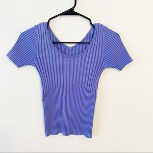 Tops - Reversible Ribbed Knit Short Sleeve Tee EUC